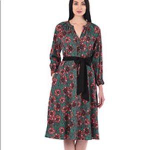 Print dress by eShakti size 12
